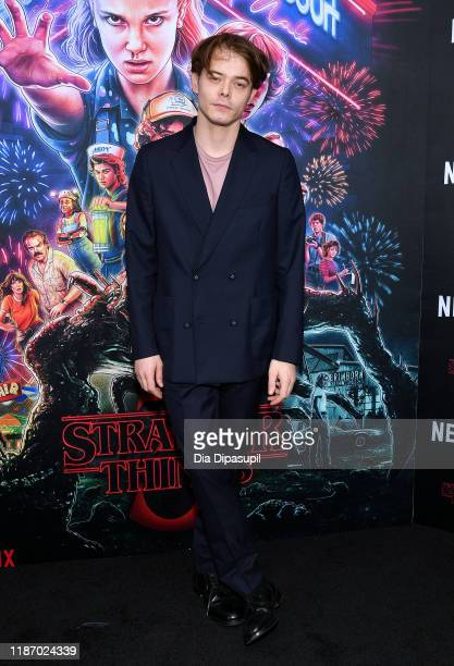 """Charlie Heaton attends a """"Stranger Things"""" Season 3 New York Screening at DGA Theater on November 11, 2019 in New York City."""