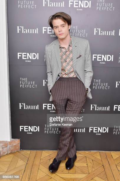 Charlie Heaton attends FENDI x Flaunt Celebrate The New Fantasy Issue at Casa Perfect on March 21 2018 in Beverly Hills California