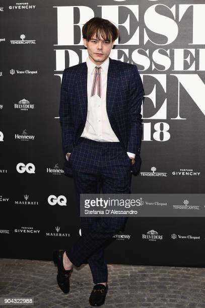 Charlie Heaton attends GQ Best Dressed Man 2018 during Milan Men's Fashion Week Fall/Winter 2018/19 on January 12 2018 in Milan Italy