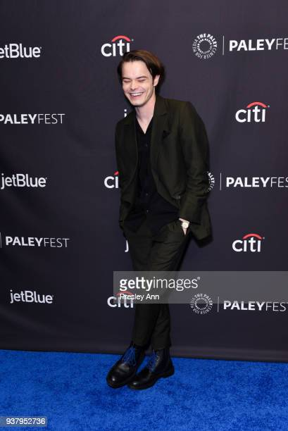 Charlie Heaton attends PaleyFest Los Angeles 2018 Stranger Things at Dolby Theatre on March 25 2018 in Hollywood California