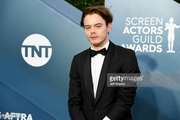 Charlie Heaton attends the 26th Annual Screen Actors Guild Awards at The Shrine Auditorium on January 19 2020 in Los Angeles California