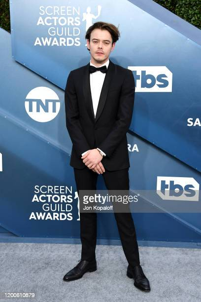 Charlie Heaton attends the 26th Annual Screen ActorsGuild Awards at The Shrine Auditorium on January 19 2020 in Los Angeles California