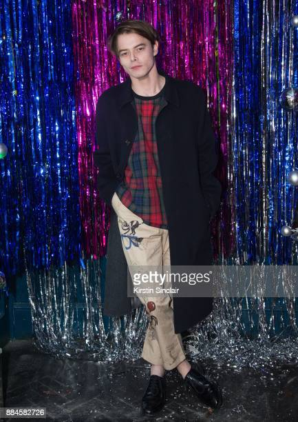 Charlie Heaton attends the Burberry x Cara Delevingne Christmas Party on December 2 2017 in London England