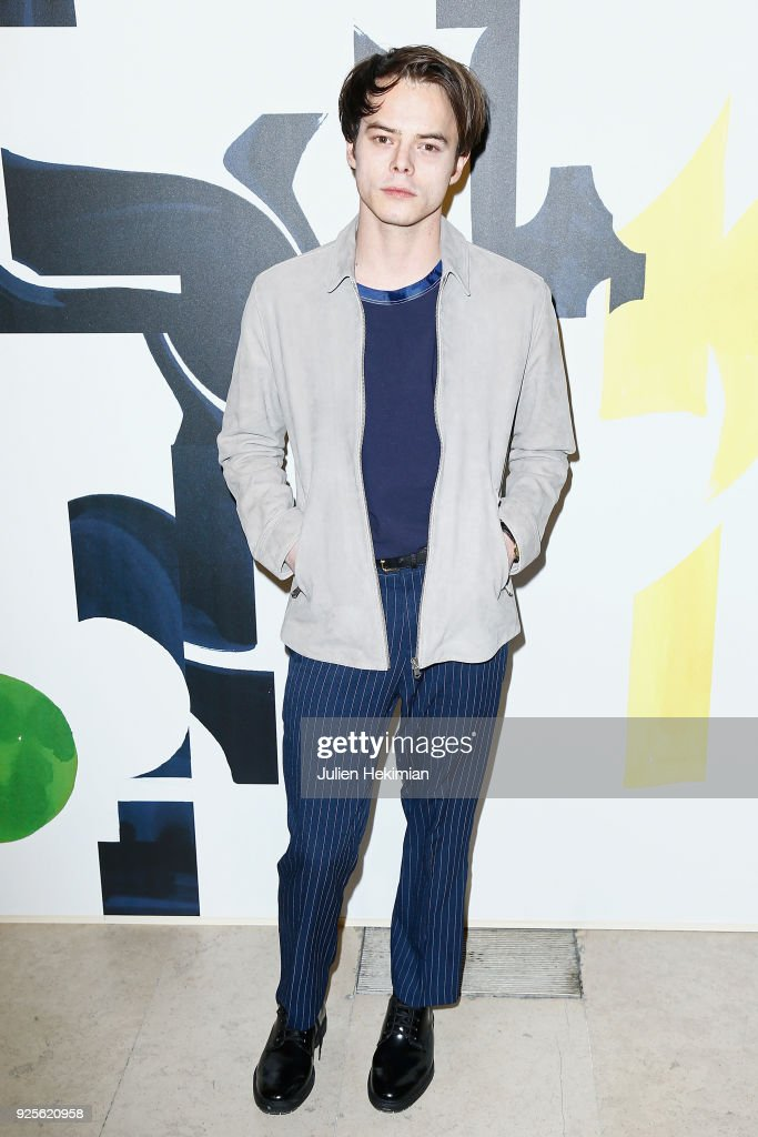 Charlie Heaton attends the H&M show as part of the Paris Fashion Week Womenswear Fall/Winter 2018/2019 on February 28, 2018 in Paris, France.
