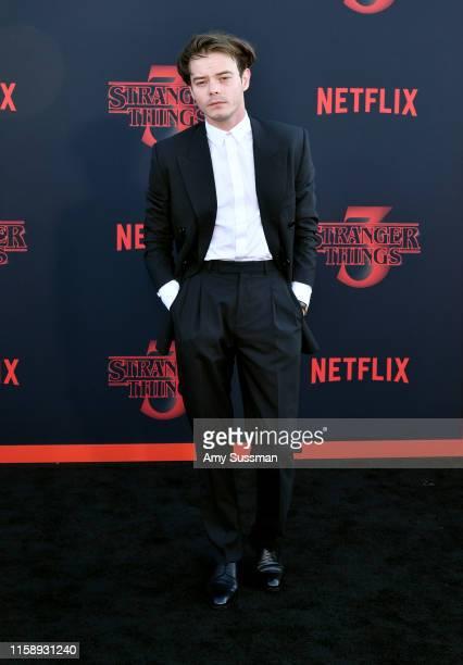 "Charlie Heaton attends the premiere of Netflix's ""Stranger Things"" Season 3 on June 28, 2019 in Santa Monica, California."