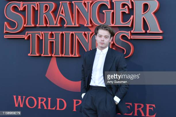 "Charlie Heaton attends the premiere of Netflix's ""Stranger Things"" Season 3 on June 28, 2019 in Santa Monica, California."