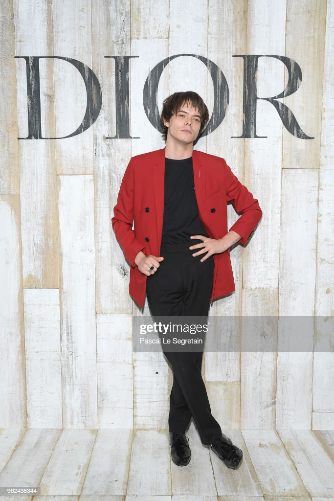 Charlie Heaton poses at a photocall during Christian Dior Couture S/S19 Cruise Collection on May 25, 2018 in Chantilly, France.