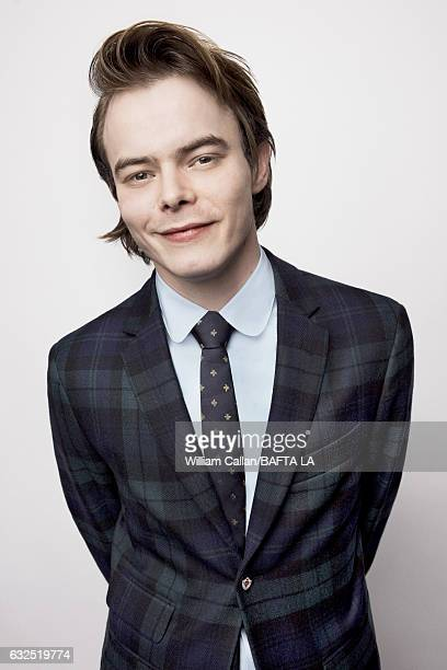 Charlie Heaton poses for a portraits at the BAFTA Tea Party at Four Seasons Hotel Los Angeles at Beverly Hills on January 7 2017 in Los Angeles...