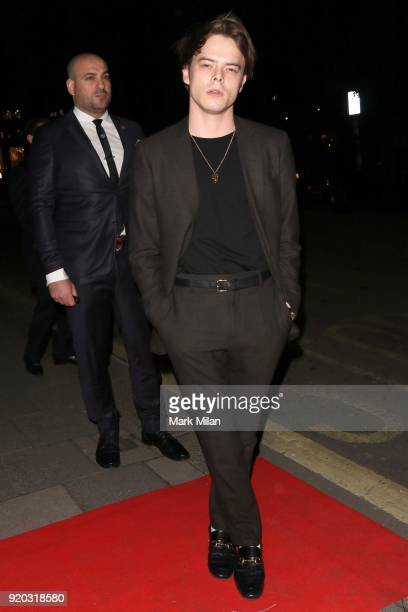 Charlie Heaton seen at the Vogue and Tiffany Co party at Annabel's club after attending the EE British Academy Film Awards at the Royal Albert Hall...