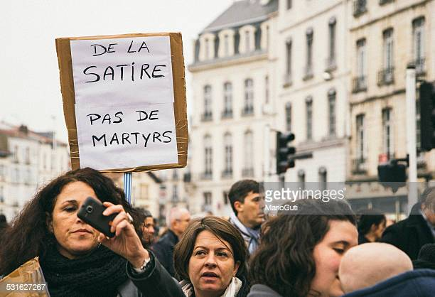 charlie hebdo protests - paris fury stock pictures, royalty-free photos & images