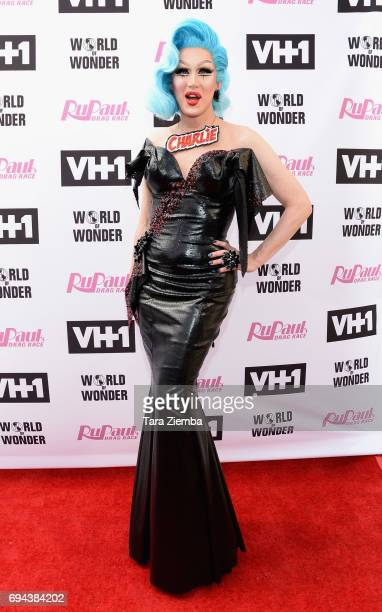 Charlie Hides arrives at 'RuPaul's Drag Race' Season 9 Finale Taping at Alex Theatre on June 9 2017 in Glendale California