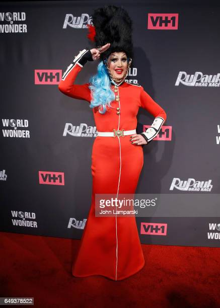 Charlie Hides attends RuPaul's Drag Race season 9 premiere party and meet the Queens Event at PlayStation Theater on March 7 2017 in New York City