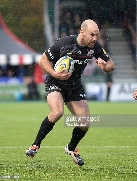 Charlie Hodgson of Saracens during the Aviva Premiership match between Saracens and Northampton Saints at Allianz Park on November 23 2014 in Barnet...