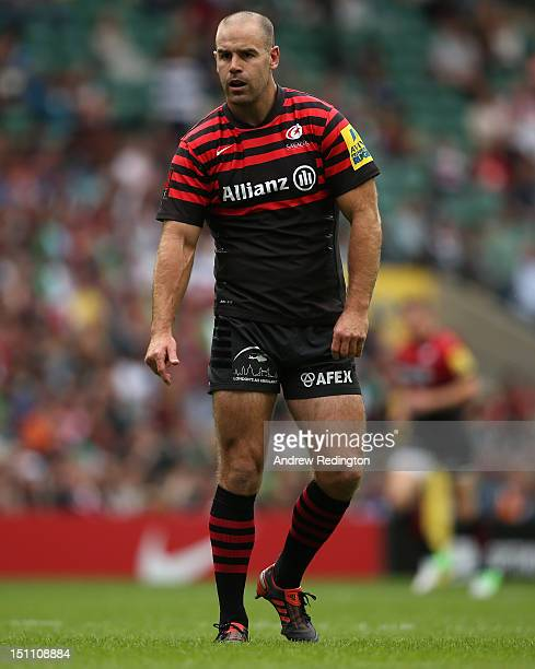 Charlie Hodgson of Saracens in action during the Aviva Premiership match between Saracens and London Irish at Twickenham Stadium on September 1 2012...