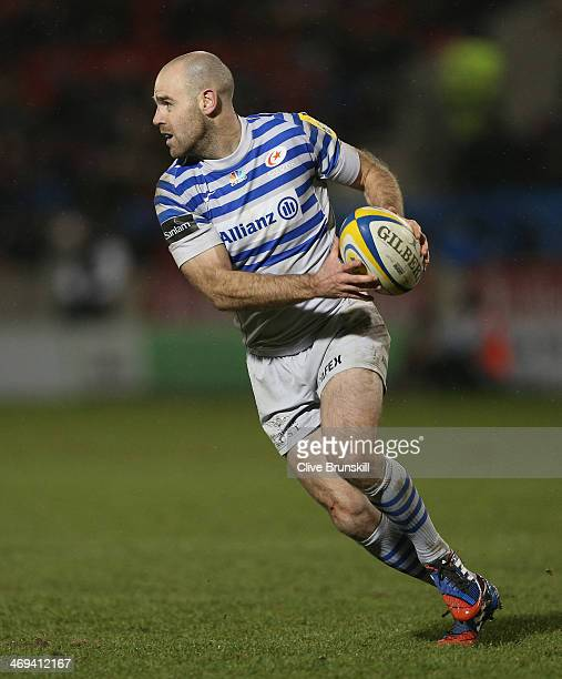 Charlie Hodgson of Saracens in action during the Aviva Premiership match between Sale Sharks and Saracens at the AJ Bell Stadium on February 14 2014...