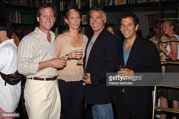 Charlie Homet Meredith Homet Ian Buchanan and Andy Arons attend An Evening of Short Films hosted by Jack Spade at The National Arts Club on July 28...