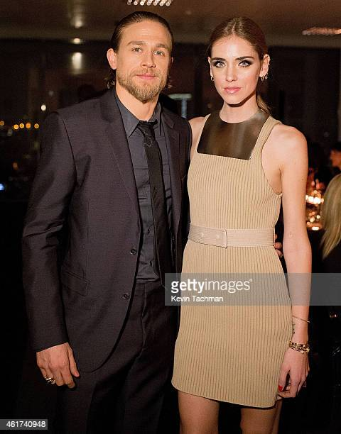 Charlie Hunnam and Chiara Ferragni attend the Calvin Klein Dinner as a part of Milan Menswear Fashion Week Fall Winter 2015/2016 on January 18 2015...