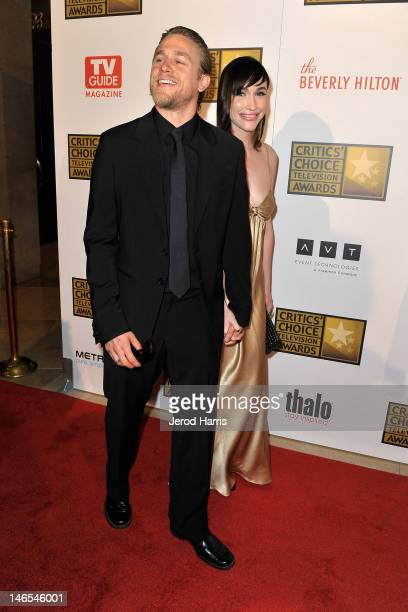 Charlie Hunnam and guest arrive at the Critics' Choice Television Awards at The Beverly Hilton Hotel on June 18, 2012 in Beverly Hills, California.