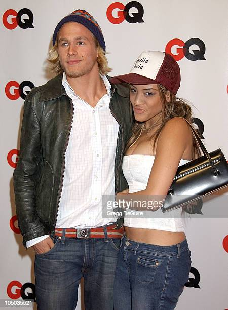 Charlie Hunnam and guest during GQ Honors Tinseltown with the Unveiling of the GQ Annual Hollywood Issue at GQ Lounge at White Lotus in Hollywood...