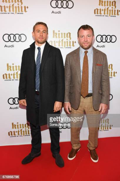 Charlie Hunnam and Guy Ritchie arrive at the Scotiabank Theatre for the Canadian Red Carpet Screening screening of King Arthur Legend of the Sword...