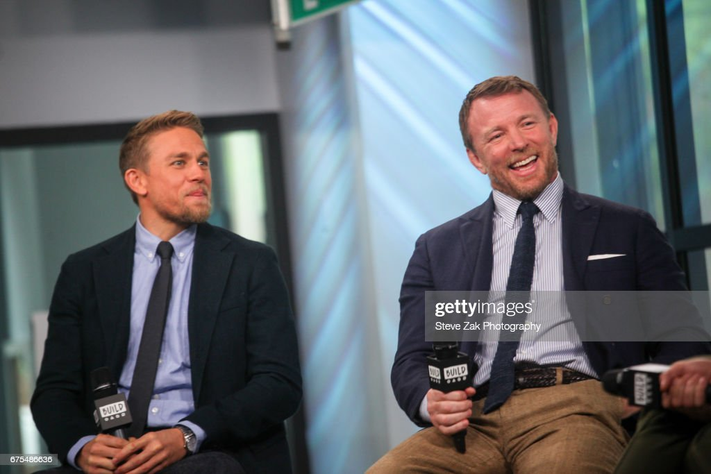 Charlie Hunnam and Guy Ritchie attend Build Series to discuss their new film 'King Arthur: Legend Of The Sword' at Build Studio on May 1, 2017 in New York City.