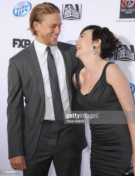 Charlie Hunnam and Maggie Siff arrives at the FX's Sons Of Anarchy Season 6 Premiere Screening at Dolby Theatre on September 7 2013 in Hollywood...