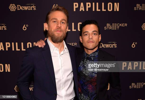 Charlie Hunnam and Michael Noer attend the premiere of Bleecker Street Media's 'Papillon' at The London West Hollywood on August 19 2018 in West...