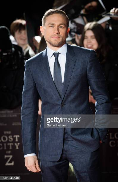 Charlie Hunnam arrive at The Lost City of Z UK premiere on February 16 2017 in London United Kingdom