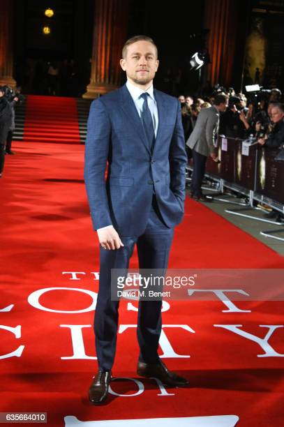 Charlie Hunnam arrives at The Lost City of Z UK Premiere at The British Museum on February 16 2017 in London United Kingdom