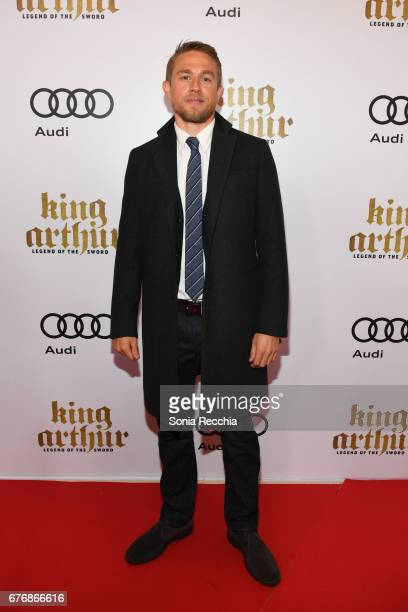 Charlie Hunnam arrives at the Scotiabank Theatre for the Canadian Red Carpet Screening screening of King Arthur Legend of the Sword presented by Audi