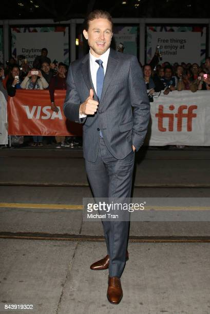 Charlie Hunnam arrives to the premiere of 'Papillon' 2017 TIFF Premieres Photo Calls and Press Conferences held during the 2017 Toronto International...