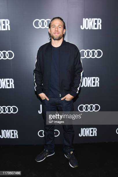 "Charlie Hunnam attends the Audi Canada post-screening reception for ""Joker"" during the Toronto International Film Festival at Patria on September 10,..."