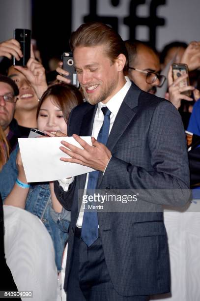 Charlie Hunnam attends the 'Papillon' premiere during the 2017 Toronto International Film Festival at Princess of Wales Theatre on September 7 2017...