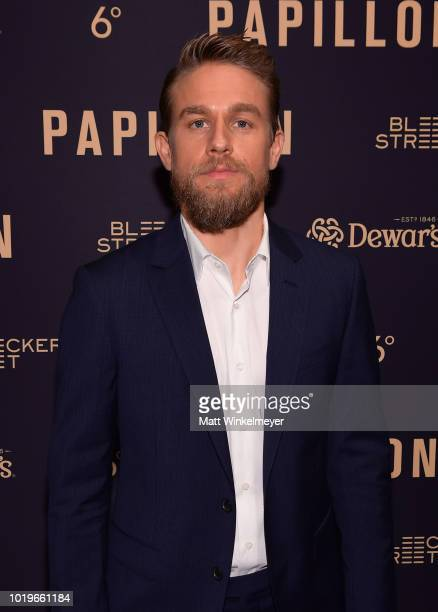 Charlie Hunnam attends the premiere of Bleecker Street Media's Papillon at The London West Hollywood on August 19 2018 in West Hollywood California