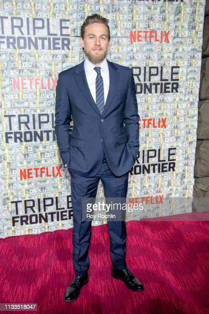 Charlie Hunnam attends the Triple Frontier World Premiere at Jazz at Lincoln Center on March 03 2019 in New York City