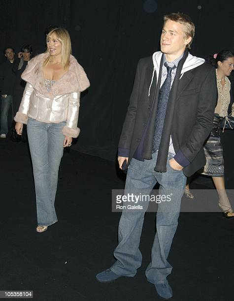 Charlie Hunnam during Giorgio Armani Spring Summer 2005 Collection at Pier 94 in New York City New York United States