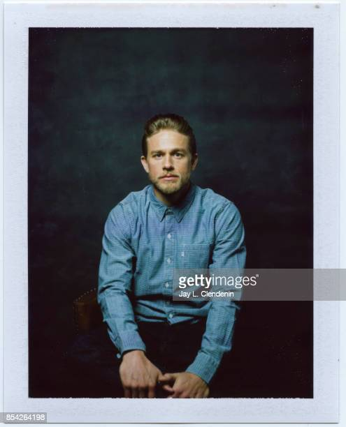 Charlie Hunnam from the film 'Papillon' is photographed on polaroid film at the LA Times HQ at the 42nd Toronto International Film Festival in...