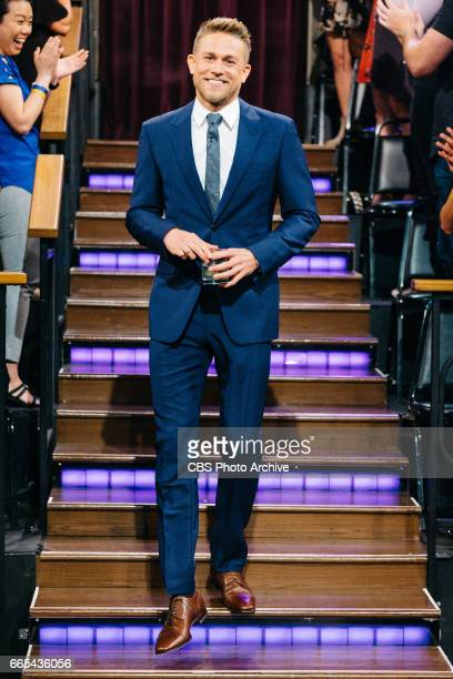 Charlie Hunnam greets the audience during 'The Late Late Show with James Corden' Wednesday April 5 2017 On The CBS Television Network