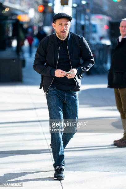 Charlie Hunnam is seen in Tribeca on March 04 2019 in New York City