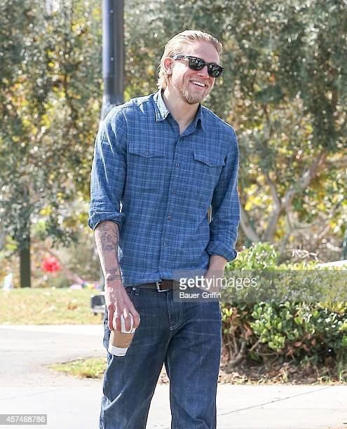 Charlie Hunnam is seen on October 18 2014 in Los Angeles California