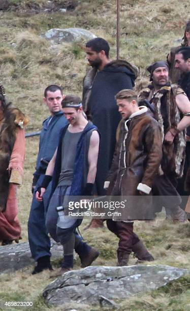 Charlie Hunnam Is Seen On Set Of The Upcoming Film Knights Round Table
