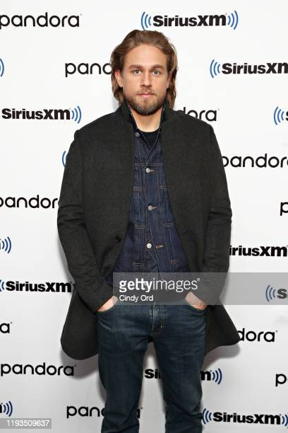 Charlie Hunnam poses for a photo as Andy Cohen sits down with the cast of 'The Gentlemen' on his SiriusXM Channel Radio Andy at SiriusXM Studios on...