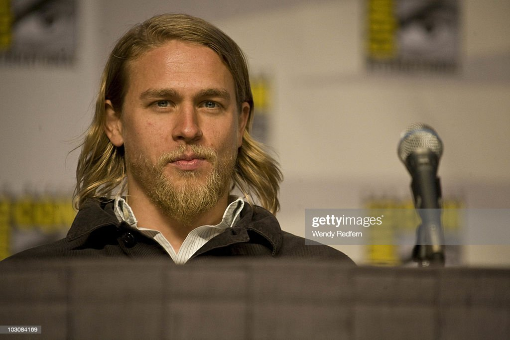 Charlie Hunnam speaks at the Sons of Anarchy panel at Comic-Con on July 25, 2010 in San Diego, California.