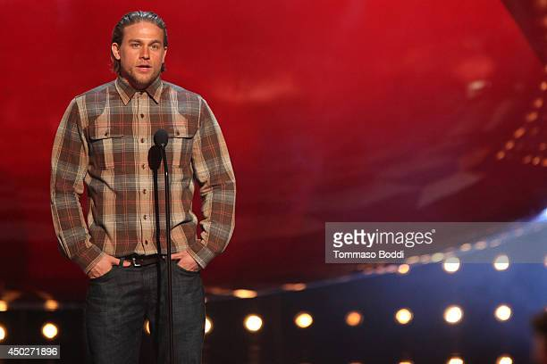 Charlie Hunnam speaks onstage during the Spike TV's 'Guys Choice' Awards held at the Sony Studios on June 7 2014 in Los Angeles California