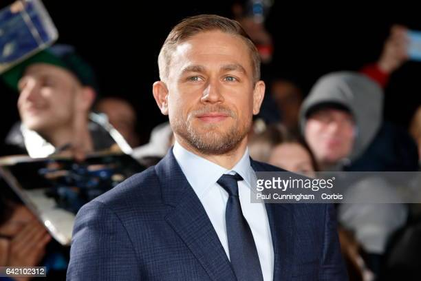 Charlie Hunnam who plays Percy Fawcett arrives at The Lost City of Z UK premiere on February 16 2017 in London United Kingdom