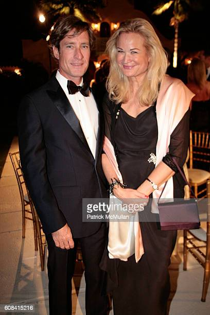 Charlie Kapler and Mary Ann Nicholas attend The Fourth Annual National Alliance for Research on Schizophrenia and Depression Palm Beach Dinner at...