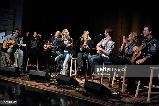"Charlie Kelley, Nan Kelley, Paul Martin, Jamie Martin, Jennifer Turner, Josh Turner, Linda Davis and Land Scott attends the 3rd annual ""The Stars Go..."