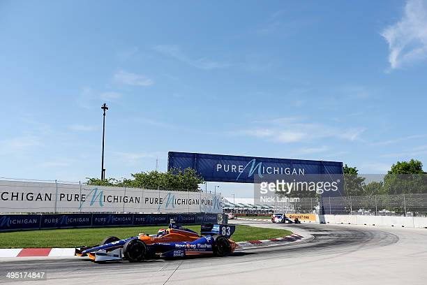 Charlie Kimball drives the Chip Ganassi Racing Teams Dallar Chevrolet during the Verizon IndyCar Chevrolet Indy Dual II at The Raceway on Belle Isle...