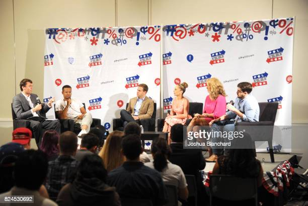 Charlie Kirk Jordan Carlos Guy Benson Ana Kasparian Scottie Nell Hughes and Trae Crowder at the 'Turning Point USA Presents Bringing Conservatism...