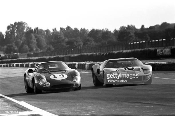 Charlie Kolb Paul Hawkins Ferrari 250LM Ford GT40 24 Hours of Le Mans Le Mans 29 September 1968
